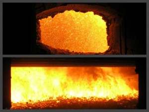CWS co-firing in a coal boiler
